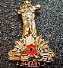 10 x ANZAC DAY WW1 100TH ANNIVERSARY ALBANY LIMITED EDITION BADGE MEDAL NUMBERED