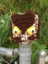 Owl, Bath tissue holder  NEW, hand crochet
