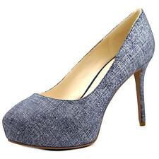 Nine West Juliette Women US 8.5 Blue Platform Heel 2491