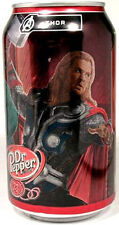 """FULL NEW 12oz Can American Dr. Pepper Limited Edition """"Avengers Thor"""" USA 2012"""