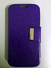 Funda Flip para  HTC DESIRE 500 Soporte tipo libro COLOR MORADO+PROTECTOR GRATIS