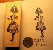 Alice in wonderland tall rubber stamp P50