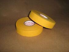 """2 Rolls of Sports Tape Baseball Bat Grip 1 Roll 1""""x82' Yellow"""