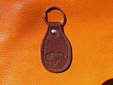 Brown BUFFALO LEATHER Key Fob hand crafted by disabled Navy veteran USN 5007