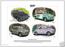 MORRIS MINOR CLASSICS - Fine Art Print - Series II MM Tourer 1000 Saloon Million