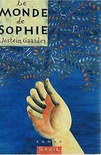 JOSTEIN GAARDER LE MONDE DE SOPHIE + PARIS POSTER GUIDE