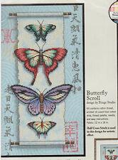 Butterfly Scroll Cross Stitch Kit Dimensions Oriental 35193 Butterflies Aida