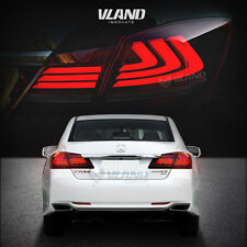 LED Tail Lights For 2013 2014 2015 Honda Accord Smoked Red Running Turn Signal