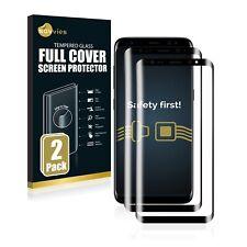 2x Pellicola per Samsung Galaxy S8 Vetro Temperato 3d curvo protezione completa