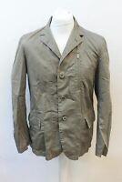ASPESI Men's Grey Collared Long Sleeve Buttoned Cotton Sport Coat Jacket S