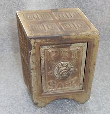 fine old cast iron Pet safe bank unusual 3D perspective