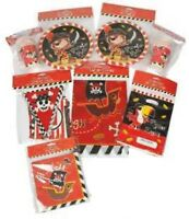 NEW x 77 piece PIRATE PARTY for 14 - plates cups banners bags napkins tablecloth