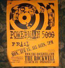 Powerman 5000 * Rare Concert Flyer Handbill * Springfield, Mo 8/15/2005