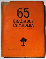 65 GRABADOS EN MADERA IMPRESOS CON TACOS ORIGINALES