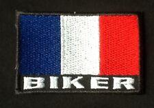 FRANCE FRENCH FLAG BIKER MOTORBIKE BIKE VEST CAP BADGE IRON SEW ON PATCH