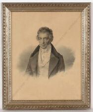 "Charles Backofen (ca.1801-aft.1860) ""Portrait of Carl Lindt"" drawing, 1840s"