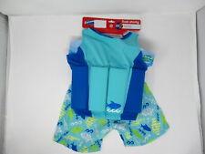 SwimWays Float Shorty Youth Boys One Size Two-Piece Child Flotation Suit ~ Blue
