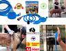 Pet Dog Cat Bathing Sprayer Washing Massage Cleaner Shower Hose Brush Silicone