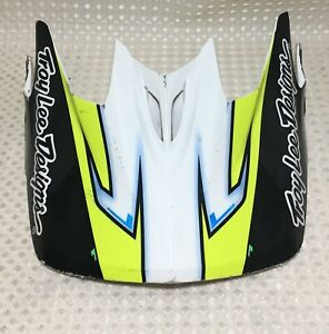Troy Lee Designs D3 Composite Replacement Visor Cadence 2017 Neon Yellow & Black