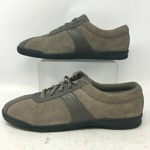Easy Spirit Womens 10N On Cue Lace Up Oxford Comfort Casual Shoes Brown Suede