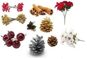 Christmas Wreath Making Craft Berry, Pine Cone, Crab Apple, Cinnamon Decoration