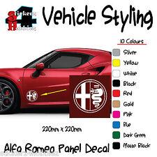 Alfa romeo panneau autocollant decal x2.