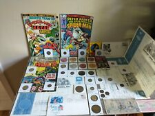 Giant! Estate lot.Tons of collectibles, stamps, silver coins, Bronze age comics