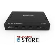 Simplecom CM340 Mechanical 4 Way Manual Push Button HDMI Switch 4 Port 4K UHD