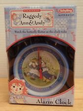 """Vintage NEW Raggedy Ann and Andy Alarm Clock 7"""" Simon & Schuster Schylling"""