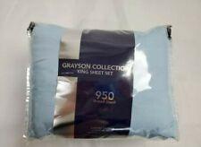AQ Textiles Grayson 4-Pc King Sheet Set, 950 Tc Cotton Blend BLUE  $190