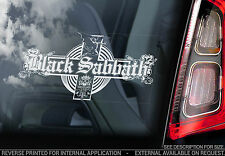 Black Sabbath - Car Window Sticker - Ozzy Osbourne, Iommi Music Sign Art - TYP1
