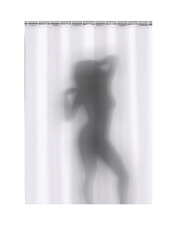 Sexy Naked Girl Women Shadow Silhouette Bath Shower Curtain Bathroom Gift Xmas