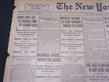 1924 JANUARY 28 NEW YORK TIMES - LENIN'S BODY LIES IN A MARBLE TOMB - NT 5107