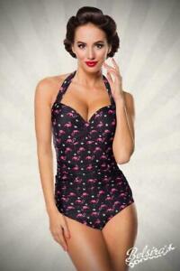 Belsira. Vintage-Badeanzug, Rosa Nero, Costumi da Bagno 50014 Taglia XXL