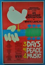 REDUCED PRICE Original Woodstock Poster with Certificate of Authenticity