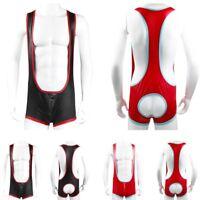 Herren Body Stringbody Bodysuit mt Bein Pofreies Boxer Shorts Unterwäsche Sexy
