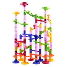 Kid Children's105pcs DIY Marble Run Race Construction Maze Building Blocks Toy