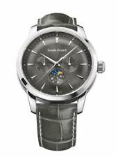 Louis Erard Men's Watch Heritage Collection Moon Phase Grey Dial and Strap