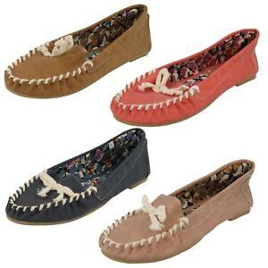 Ladies Spot On Slipper Style 'Moccasins'