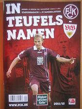 Programm Stadionheft   1. FC Kaiserslautern - VfB Stuttgart   30.09.11   FCK NEU