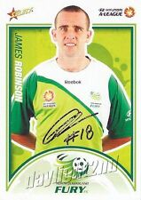 ✺Signed✺ 2009 2010 NORTH QUEENSLAND FURY A-League Card JAMES ROBINSON