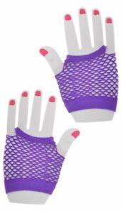 SHORT Fishnet Gloves Lace Fingerless Punk Emo Hen Party Fancy Dress Tutu Rave XX