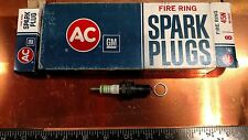 NOS! Spark Plugs AC 45N Fire Ring 1965 1966 1967 1968 Chevrolet 396 427 Hot Plug