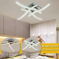LED Ceiling Down Light Curved Forked Lamp Living Room Kitchen Bedroom Fixture