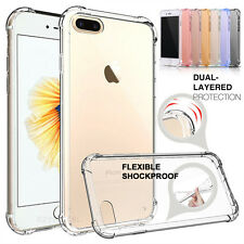 Shock proof Flexible TPU Gel Rubber Soft Skin Case For Apple iPhone X 7 8 Plus