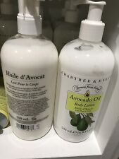 TWO NEW HTF CRABTREE & EVELYN  16.9 BODY LOTION AVOCADO OIL (16.9 OZ x 2)
