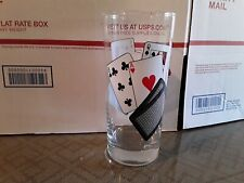 Playing Card - Poker - Drinking Glass Highball BRAND NEW UNUSED!!! 12-9