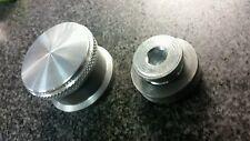 "Weld-on Steel Filler Neck & Drain Plug Rearend Gas Tank Aluminum Cap 9"" Ford"