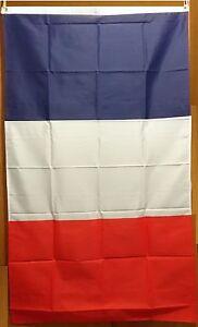 French Flag  DRAPEAU FRANÇAIS Tricolore OPEX mission Armée Française 90 X 151 cm