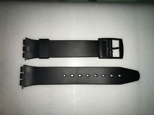 Plastic Resin SWATCH Replacement Watch Strap -17mm - Black Resin